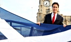 Ed Miliband with the saltire in Liverpool