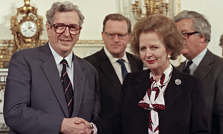 Garret FitzGerald and Margaret Thatcher