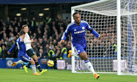 Didier Drogba praised by Chelsea's manager after defeat of Tottenham