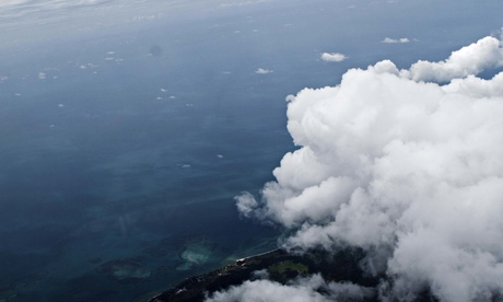 Indonesia's Java Sea seen from Hercules C130 aircraft during the search for AirAsia flight QZ8501.