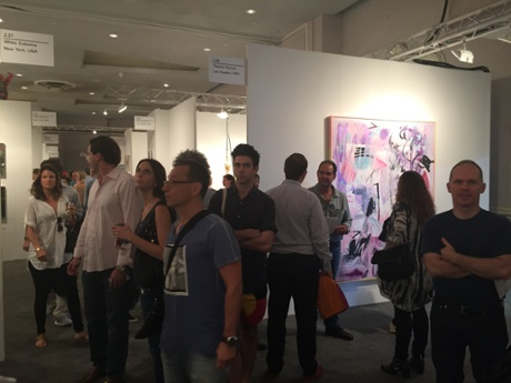 The crowds at Nada, Miami.