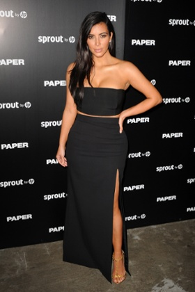 Kim Kardashian attends Paper magazine's launch party in Miami Beach.