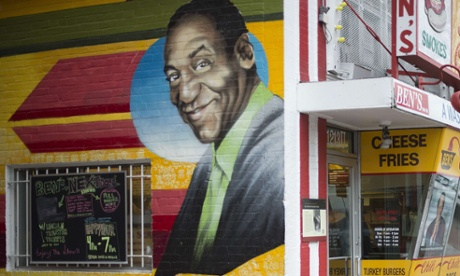 A mural of Bill Cosby on a store in Washington DC.
