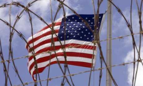 A US flag at Guantanamo Bay.
