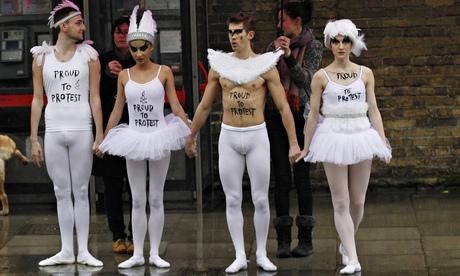 ballet dancers protest
