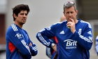 Ashley Giles with Alastair Cook
