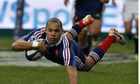Gaël Fickou scores the winning try in the Six Nations match between France and England.