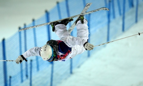 Patrick Deneen of the USA in action during the Freestyle Skiing Men's Moguls Final at the Sochi 2014 Olympic Games.