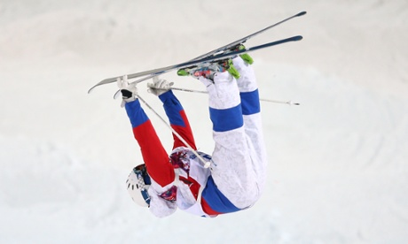 Alexandr Smyshlyaev of Russia in the Men's Moguls Finals at the Sochi 2014 Winter Olympics.