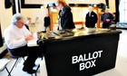 2010 general election polling day at Market Hall in Swadlincote, Derbyshire.