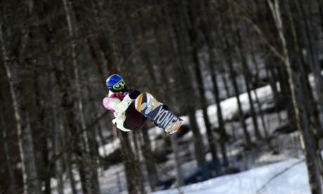 Spain's Queralt Castellet competes in the Women's Snowboard Halfpipe Qualifications