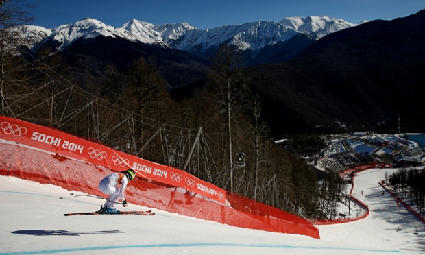 Jacqueline Wiles of the USA during the women's downhill.