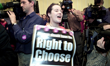 A pro-choice campaigner in Northern Ireland