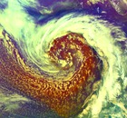 Satellite image of storms approaching the UK