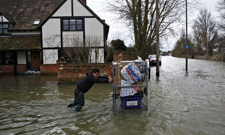 Staines resident saves belongings in flood