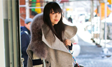 Wrapping up: Susie Lau, aka Susie Bubble, at New York fashion week earlier this month.