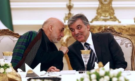 Karzai with Abdullah Gul