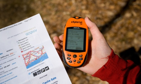 A hand-held GPS unit.
