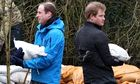 Princes William and Harry in Datchet