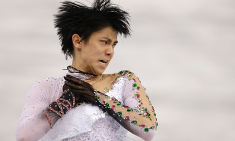 Yuzuru Hanyu of Japan skates to gold in the men's free skate final at the Iceberg Skating Palace in Sochi.