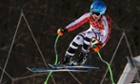Germany's Viktoria Rebensburg takes a jump during the women's Super G.