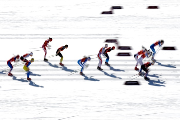 The cross country skiing saw the women's 4x5km relay final.