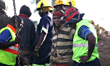 South Africa miners trapped