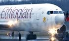 Ethiopian Airlines plane  in Geneva