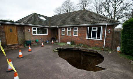 Sinkhole in High Wycombe