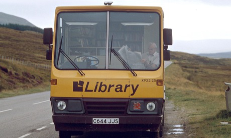 Not many of us are this well equipped … a mobile library. Photograph: Stefano Archetti / Rex Features