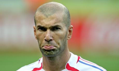French midfielder Zinedine Zidane gesture