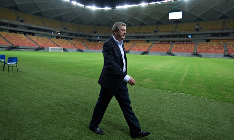 England Manager Roy Hodgson Visits Manaus in Brazil