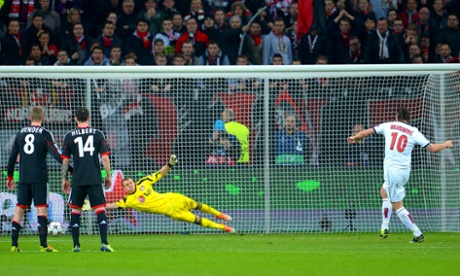 Zlatan Ibrahimovic whips home PSG's second from the penalty spot.