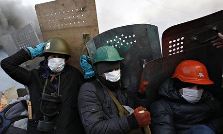Anti-government protesters in Kiev