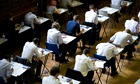 Pupils fill an exam hall to take a GCSE exam