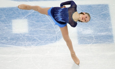Yulia Lipnitskaya of Russia performs in the women's short program figure skating at the Sochi games.