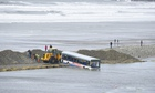 Ten people were rescued from the bus that was partially submerged in Newgale, Pembrokeshire.