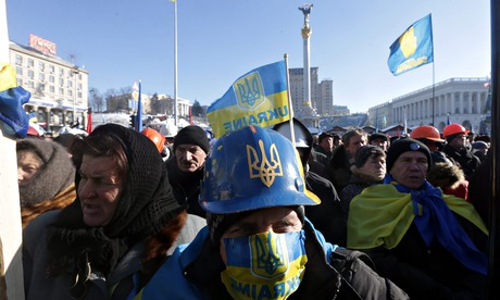 Anti-government protests in Ukraine.