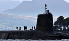 Vanguard class nuclear submarine carrying Trident missiles