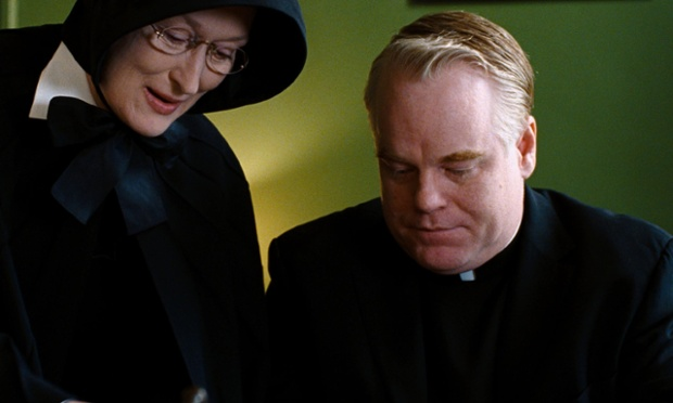 Meryl Streep and Hoffman in the film Doubt (2008)