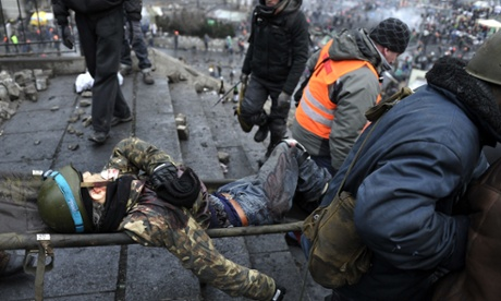 Evacuating the wounded. source: http://www.theguardian.com/
