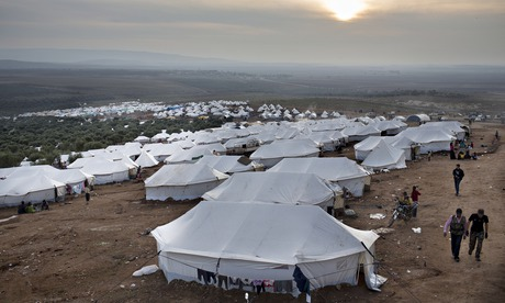 Displaced Syrian Refugees Escape Conflict At Camp In Atmeh