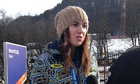 Ukrainian skier Bogdana Matsotska