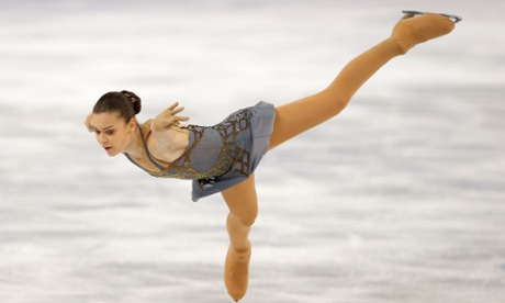 Adelina Sotnikova of Russia competes in the women's free skate figure skating final.