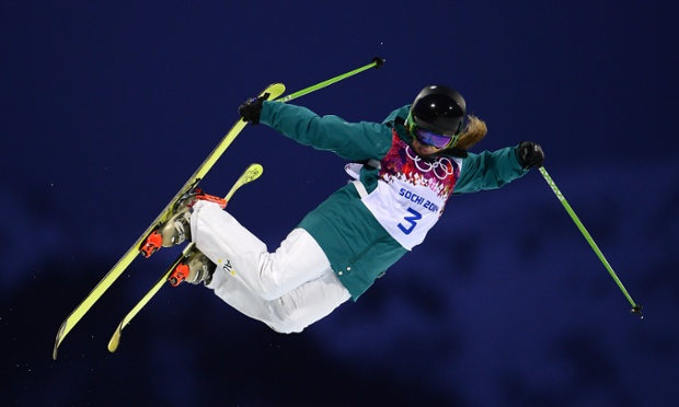 Australia's Amy Sheehan competes in the women's freestyle skiing halfpipe qualifications at the Rosa Khutor Extreme Park.