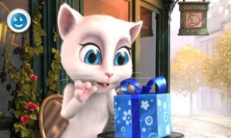Talking Angela may talk back, but she's not controlled by a hacker.