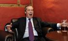 Nigel Farage camapigns in Amershamthere