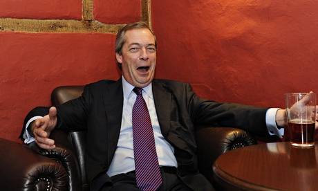 Nigel Farage camapigns in Amershamthere