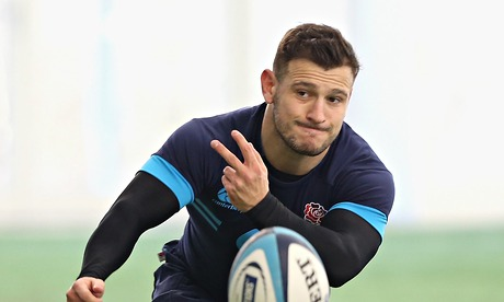 Danny Care, the England scrum-half, during a training session