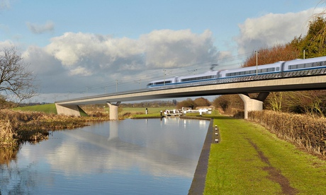 An artist's impression of part of the HS2 high speed rail scheme. A consultation on the project's im